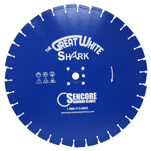 The Great White Shark Diamond Blade | Blue Series