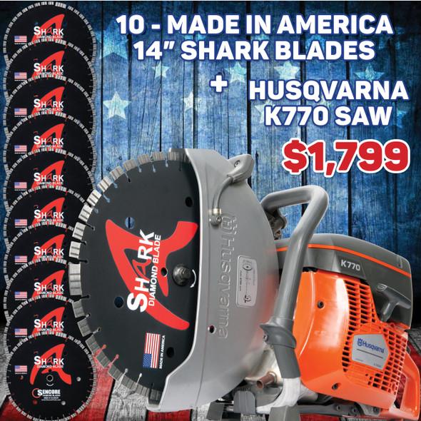 Husqvarna K770 + 10 Shark Blades | 4th of July Sale