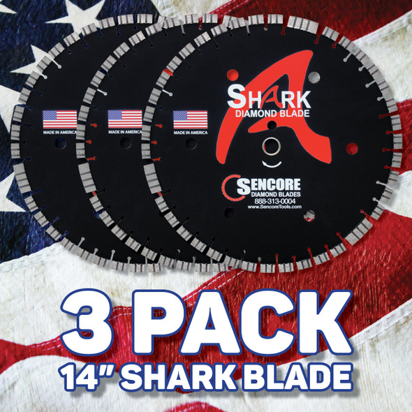 "Special Deal: 3 Pack | 14"" Shark Diamond Saw Blade"