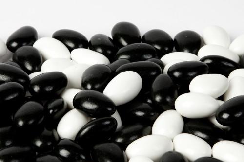 Black and White Tuxedo Jordan Almonds