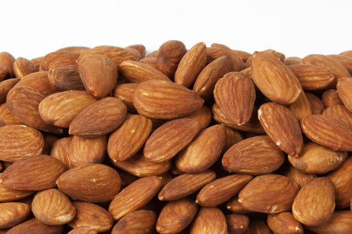 fresh roasted and unsalted California almonds