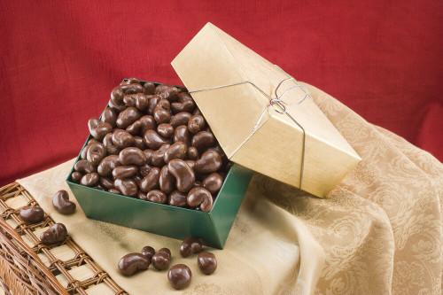 Milk Chocolate Covered Cashews Gift Box