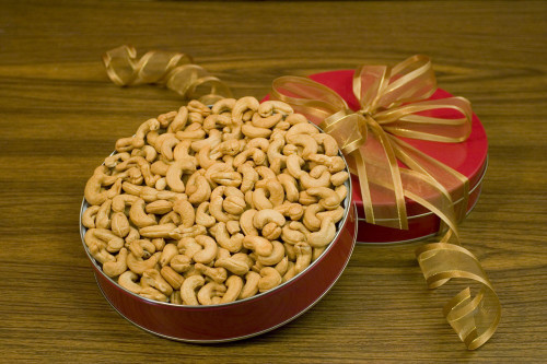 Giant Whole Cashews Lge Gift Tin (Salted)