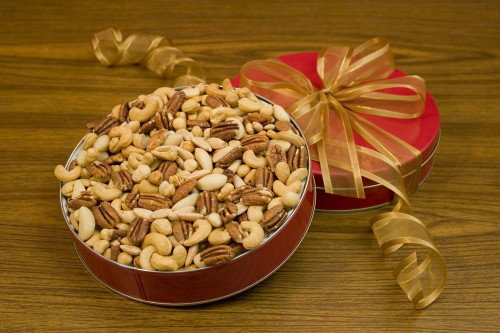32oz Superior Mixed Nuts Gift Tin (Unsalted)