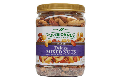Salted Deluxe Mixed Nuts, 30oz Jar