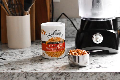 Roasted & Salted Cashew Hvs & Pcs, 13oz can