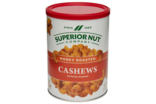 Superior Nut Honey Roasted Whole Cashews