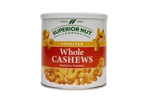 Superior Nut Unsalted Whole Cashews