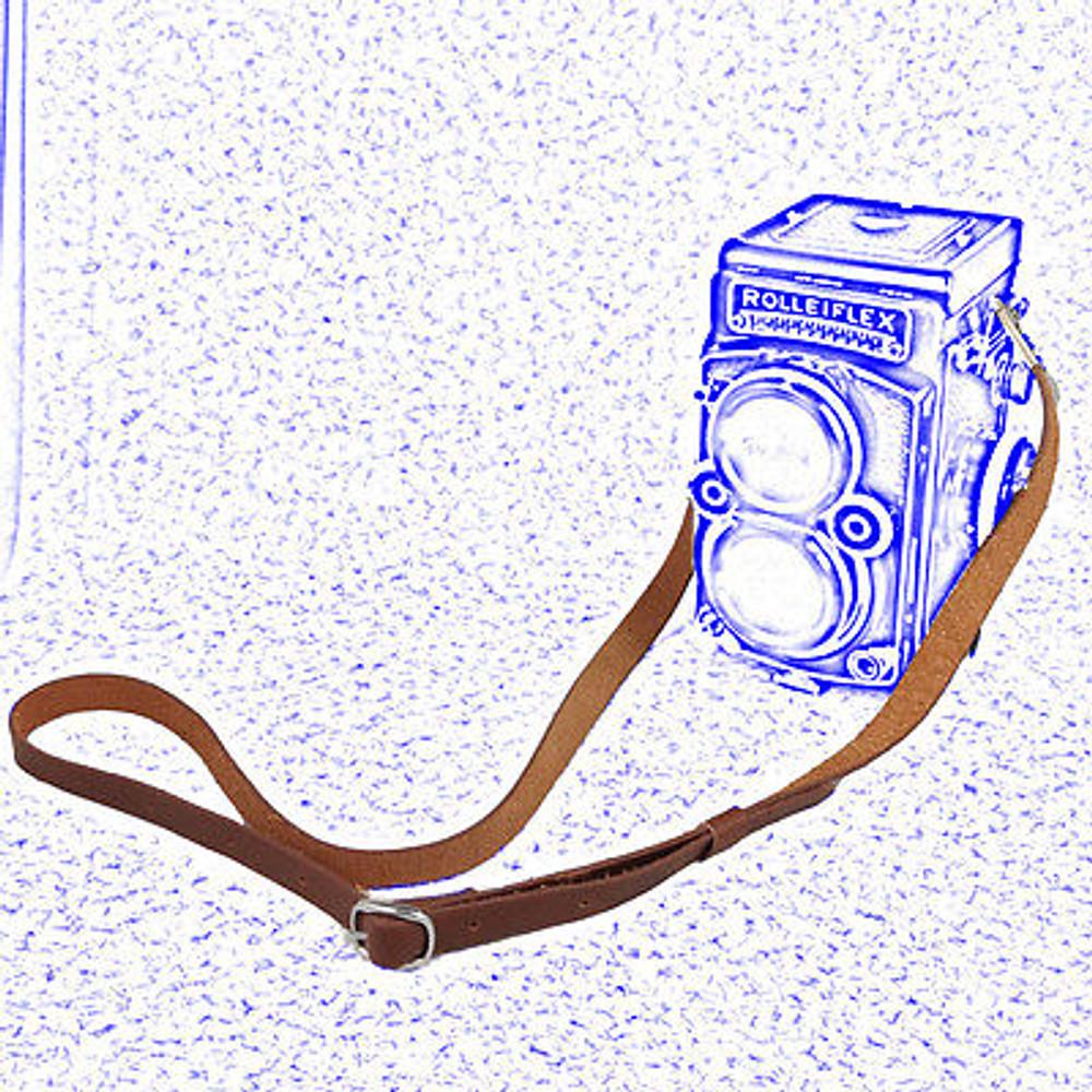 Brown Leather shoulder Neck Strap for Rolleiflex 2.8F 3.5F TLR camera China