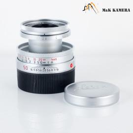 Leica Elmar-M 50mm/F2.8 Ver.II Silver Lens Yr.1995 Germany 11823 #602