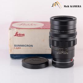 LEITZ Leica Summicron M 90mm F/2.0 Ver.I V.1 Black Lens Yr.1969 Canada #618