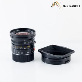 Leica Elmarit-M 21mm F/2.8 ASPH Black Lens Yr.2002 Germany 11135 #110