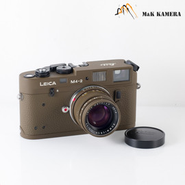 Leica M4-2 Repaint Olive Film Rangefinder Camera #239