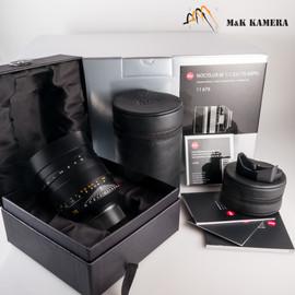 Leica Noctilux-M 75mm/F1.25 E67 Asph Black Lens Germany #676