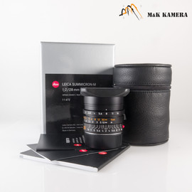 Leica Summicron-M 28mm/F2.0 E46 11672 Black Lens Germany #672