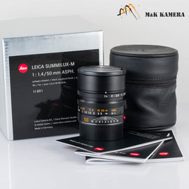 Leica Summilux-M 50mm/F1.4 ASPH Black Lens Germany #891