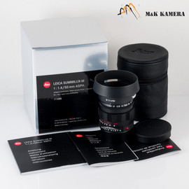 New Leica Summilux-M 50/1.4 50mm f/1.4 Asph. 6Bit E43 11688 Black Chrome limited