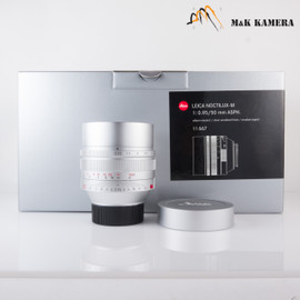 Leica Noctilux-M 50mm F/0.95 ASPH 11667 Silver Lens Germany #667