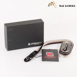 Artisan & Artist Black & Silver -312N Strap for Leica M Camera #NBS