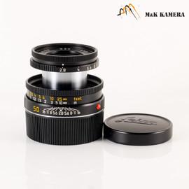 Leica Elmar-M 50mm/F2.8 Ver.II Black Lens Yr.2001 Germany #491