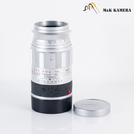 LEITZ Leica Elmarit M 90mm/F2.8 Silver Lens Yr.1960 Germany #973