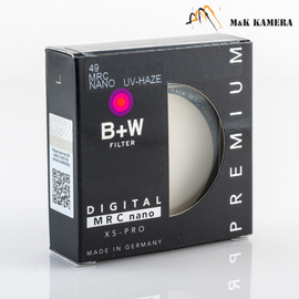 B+W 49mm UV-Haze MRC Nano Filter #114
