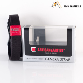 Artisan & Artist 100A Acrylic Camera Strap Black/Red for Leica M camera #KRE
