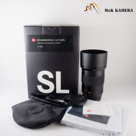 Leica APO-Summicron-SL 75mm/F2.0 ASPH Black Lens Germany 11178 #178