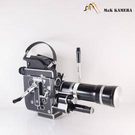 Bolex Paillard H16 Camera w/ Kern-Switar 18-86/2.5 + Cina-Xenon 25/1.4 #063