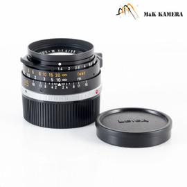 LEITZ Leica Summilux M 35mm/F1.4 Pre-Asph Black Lens Yr.1983 Canada #077