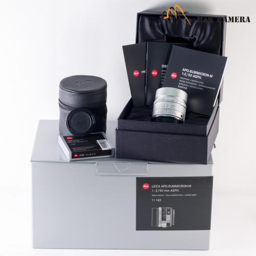 Leica APO-Summicron-M 50mm F/2.0 Silver Lens Germany 11142 #444