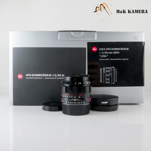 Leica APO-Summicron-M 50mm/F2 LHSA Asph 11186 Black Paint Lens Germany #186