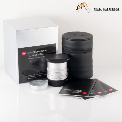 Leica Summicron-M 35mm/F2.0 ASPH Silver Lens Germany #674