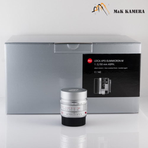Leica APO-Summicron-M 50mm/F2.0 Silver Lens Germany #142