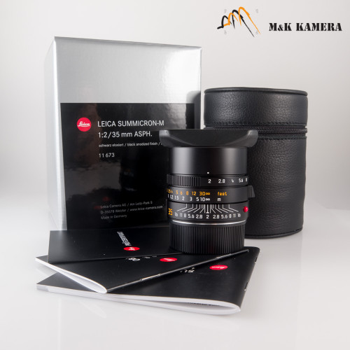 Leica Summicron-M 35mm/F2.0 E39 ASPH Ver.II Black Lens Germany #673