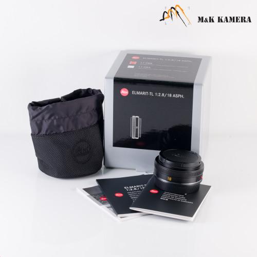 Leica Elmarit-TL 18mm/F2.8 E39 ASPH Black Lens Japan #088
