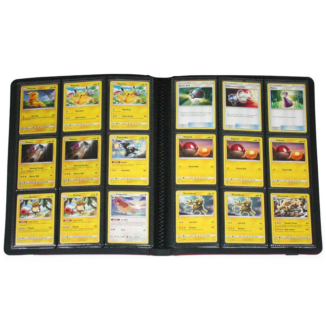 BCW Binder Folio 9 Pocket LX Card Album Red White MtG Pokemon Card Collection