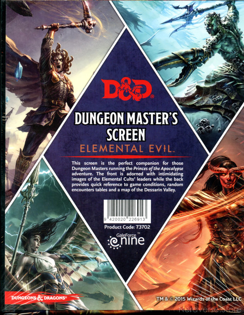 GF9 Dungeon Masters Screen Elemental Evil 5th Ed New Sealed