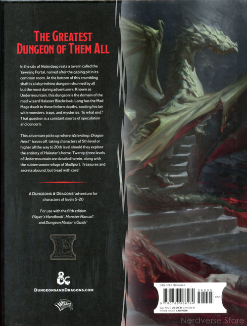 Dungeon of the Mad Mage Waterdeep 5th Ed New HC Dungeons & Dragons