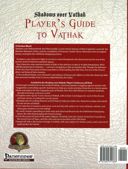 Players Guide to Vathak Shadows over Vathak SC New Pathfinder