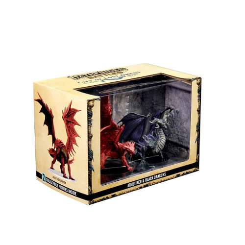 Adult Red & Black Dragons City of Lost Omens Premium Pathfinder Battles