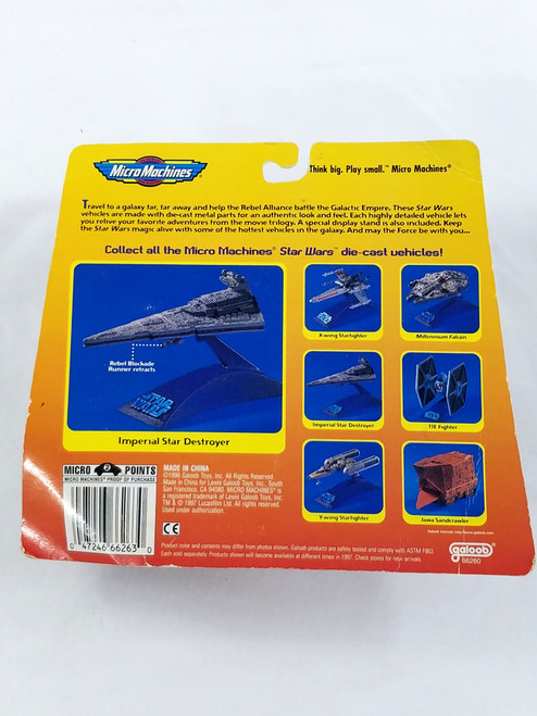 Star Wars Imperial Star Destroyer Galoob New in Box Micro Machines