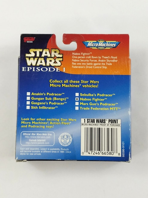 Star Wars Episode 1 Naboo Fighter Galoob New in Box Micro Machines