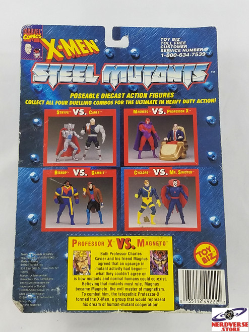 Professor X vs Magneto X Men Steel Mutants Marvel Comics Toy Biz New in Box