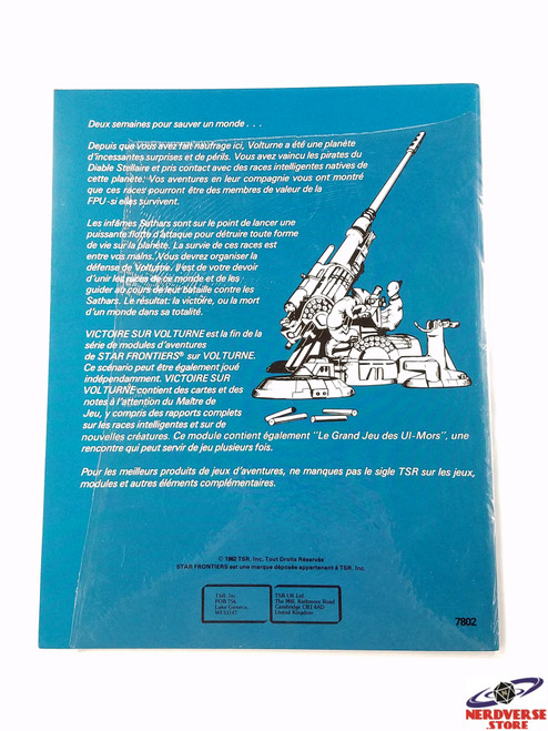 Rare Star Frontiers Alpha Dawn Adventure French SF2 Partially Sealed