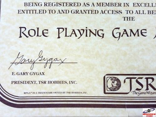 Rare Vintage RPGA TSR Introduction Notice from E. Gary Gygax Summer 1981