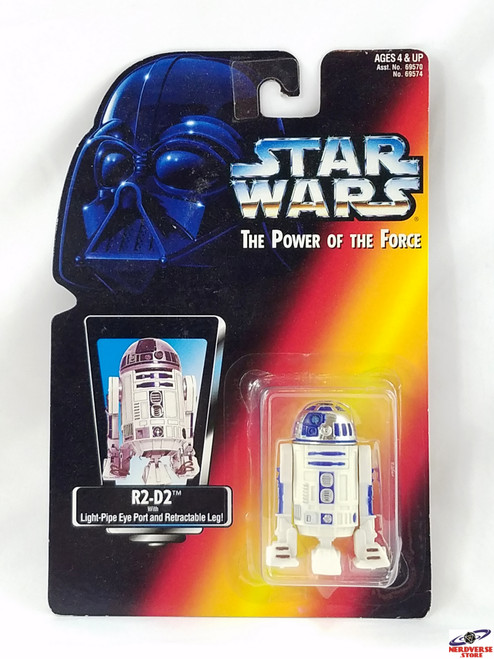 R2D2 POTF2 RED CARD MOC POWER OF THE FORCE STAR WARS
