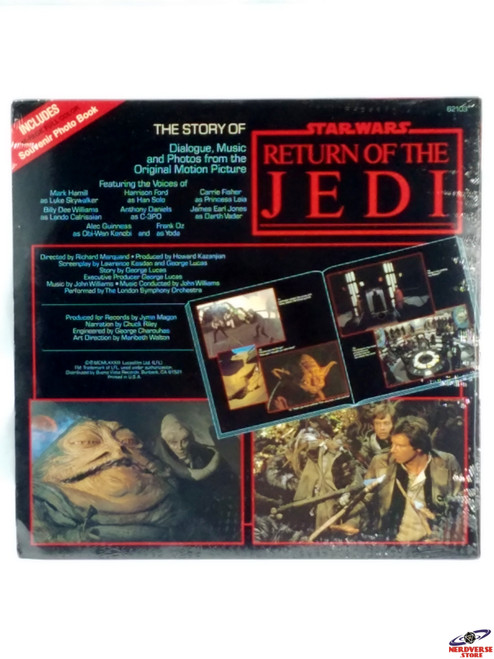 LP RECORD NEW SEALED #1 THE STORY OF STAR WARS RETURN OF THE JEDI MOVIE