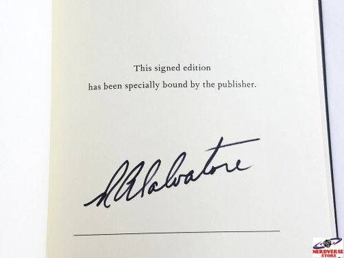 RELENTLESS SIGNED FIRST EDITION RA SALVATORE #2 BRAND NEW