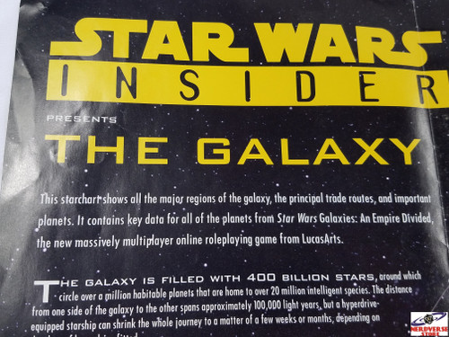 STAR WARS INSIDER POSTER MAP THE GALAXY